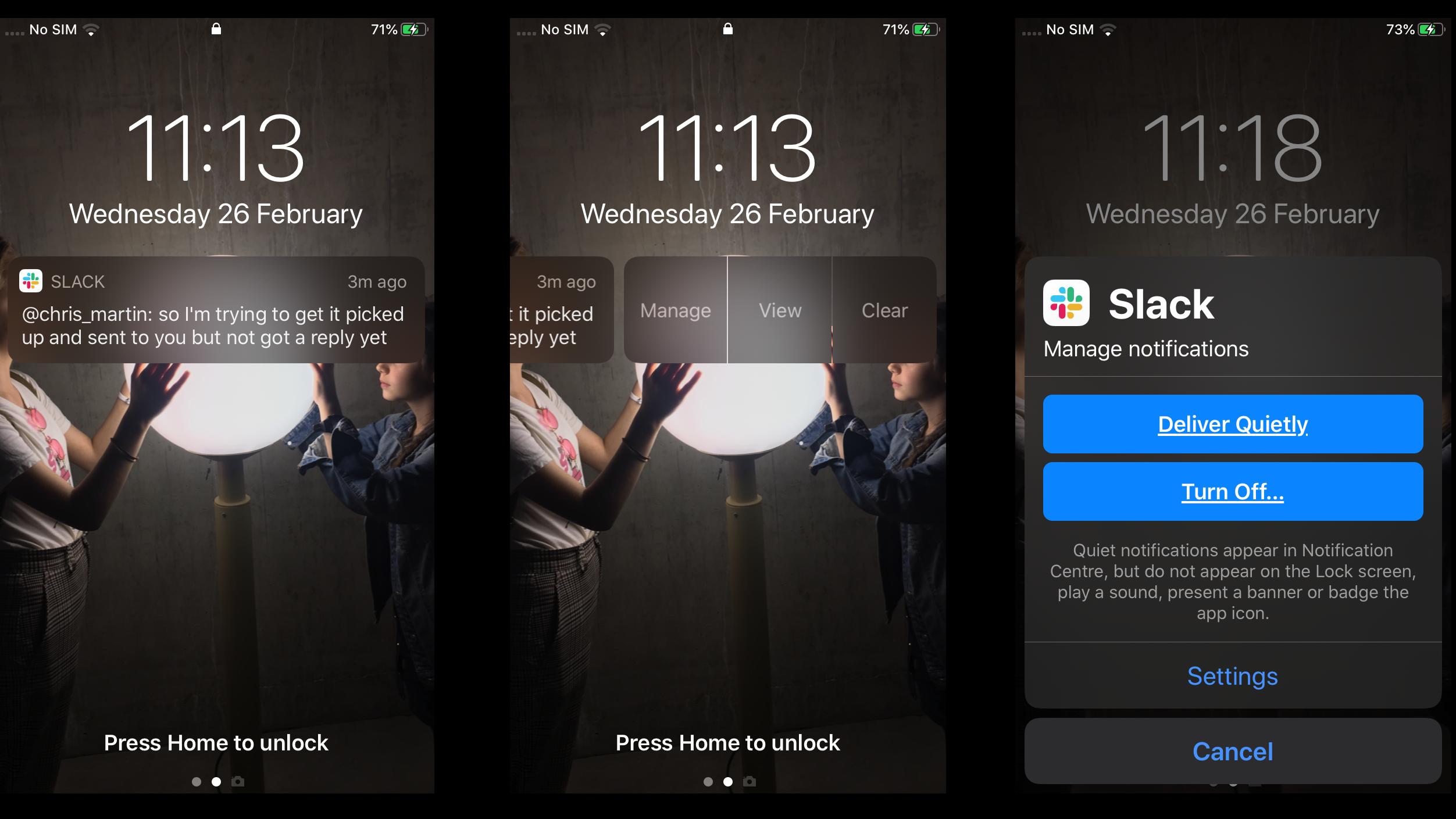 Cómo ver notificaciones en iPhone bloqueado: usando la opción Administrar