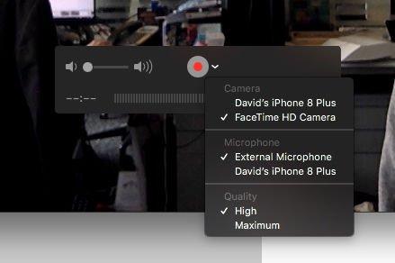 Cómo grabar llamadas FaceTime en iPhone: seleccione iPhone