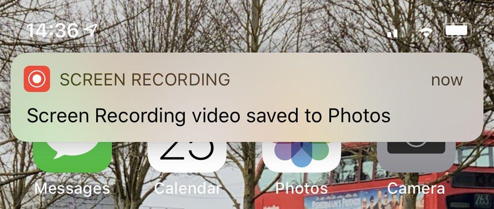 Cómo grabar la pantalla en iPhone: video guardado en fotos