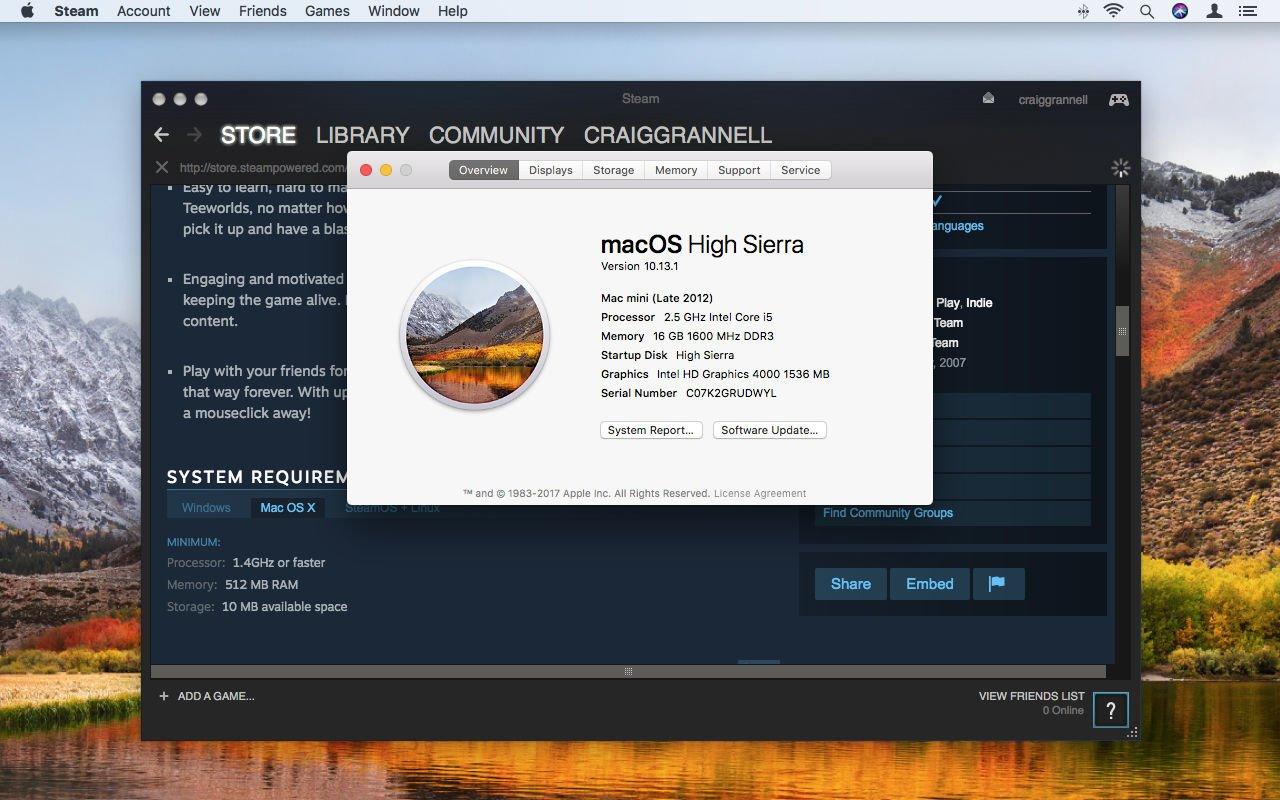 Cómo usar Steam en Mac: requisitos del sistema