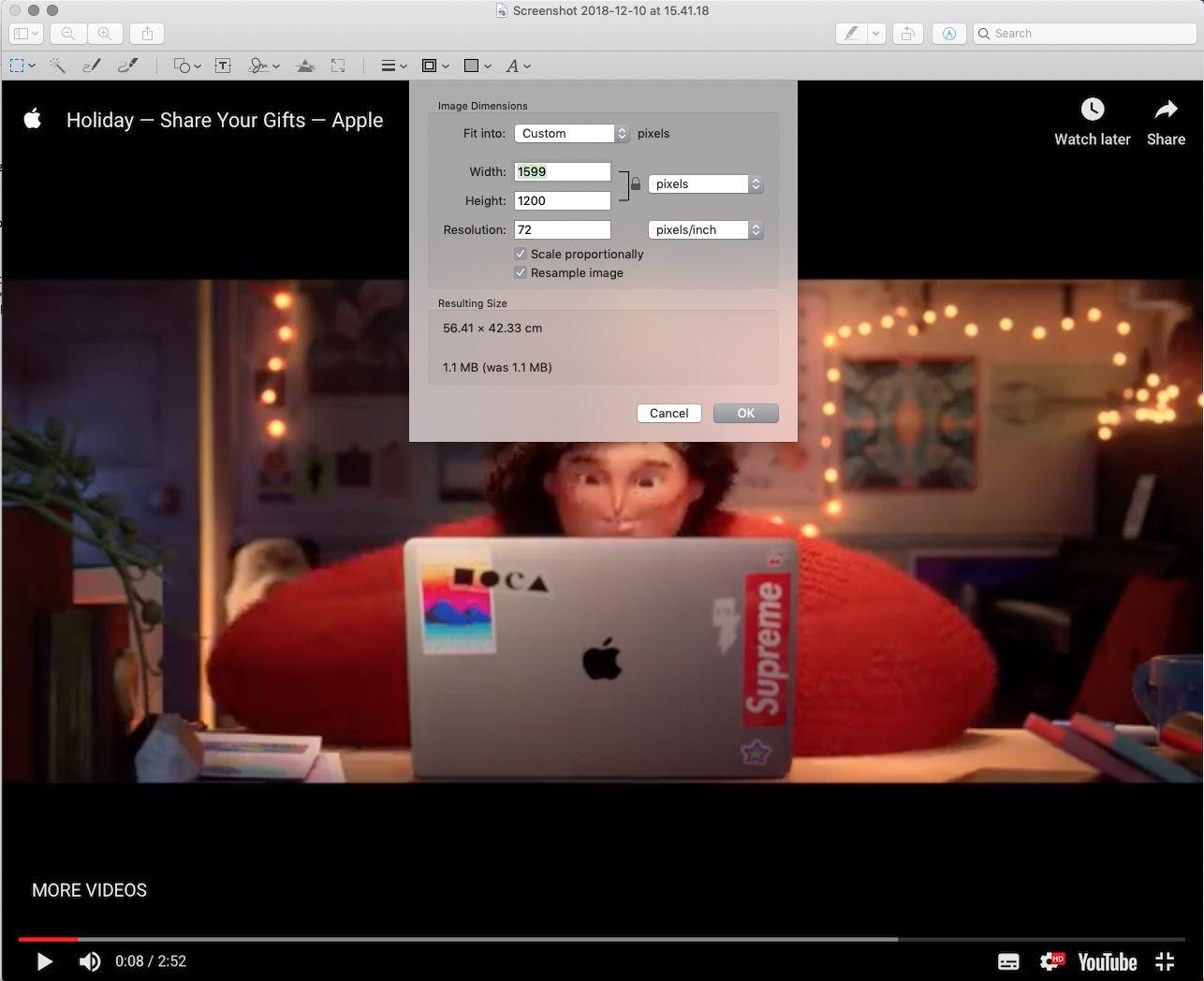 Cambiar dimensiones image Mac