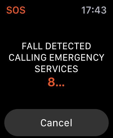 Cómo usar la detección de caídas en Apple Watch: cuenta regresiva de servicios de emergencia