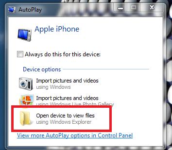 Cómo transferir fotos de iPhone a PC: Explorador de Windows