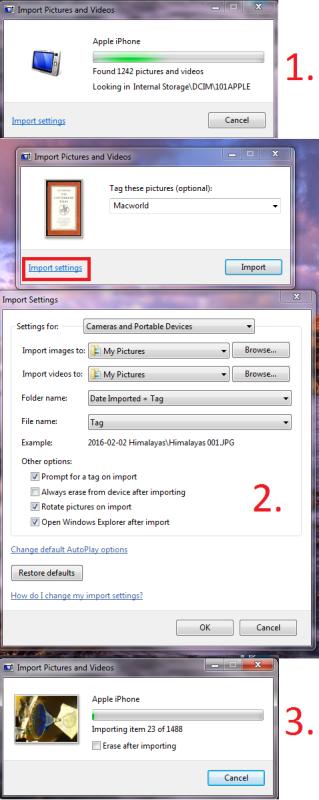 Cómo transferir fotos de iPhone a PC: Importación de Windows