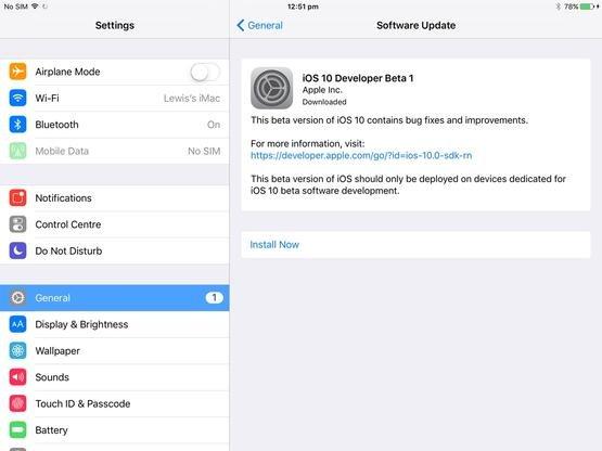 Actualice a la última versión de iOS