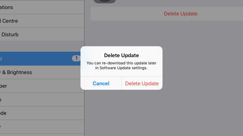 Cómo evitar que un iPhone solicite actualizar iOS: eliminar una actualización descargada