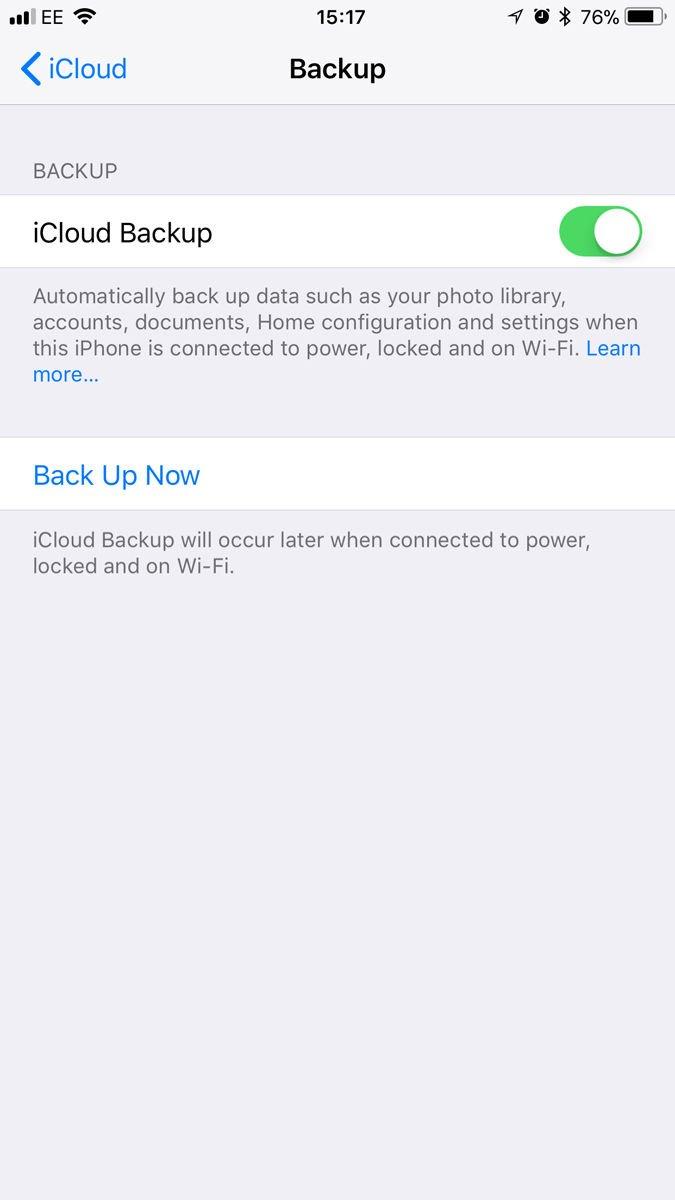 Cómo hacer una copia de seguridad y transferir mensajes de texto de iPhone: copia de seguridad de iCloud