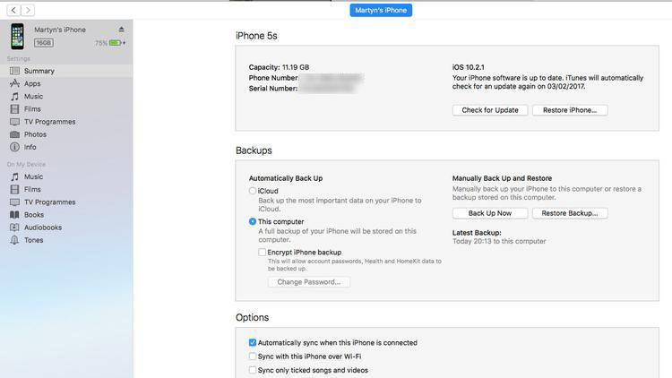 Cómo restaurar un iPhone o iPad desde una copia de seguridad: iTunes