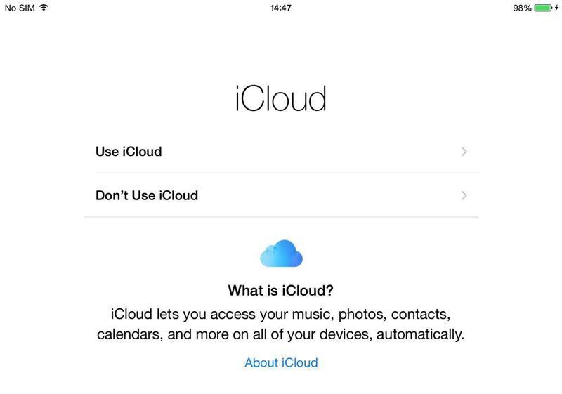 Cómo configurar iCloud en iPad