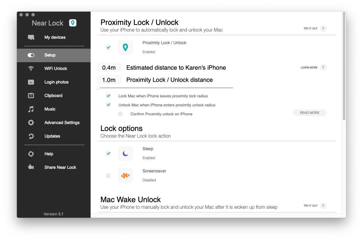 Desbloquear Mac con la configuración de iPhone