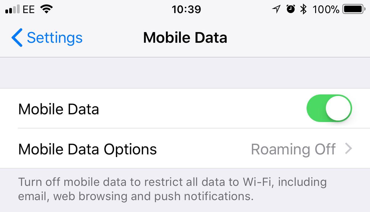 Cómo evitar los cargos de roaming de datos del iPhone: Configuración