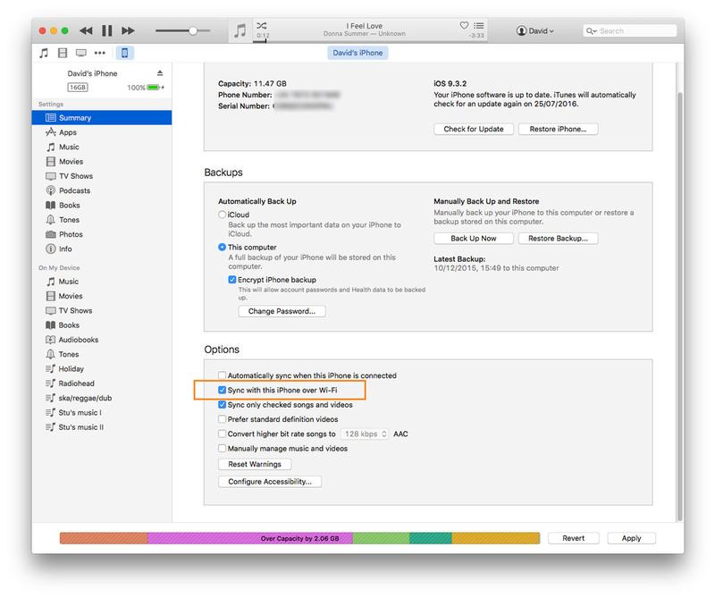 Cómo obtener música en un iPhone: sincronizar con iTunes a través de Wi-Fi