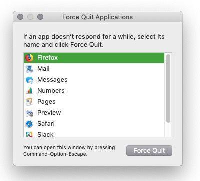 Forzar salida de Mac