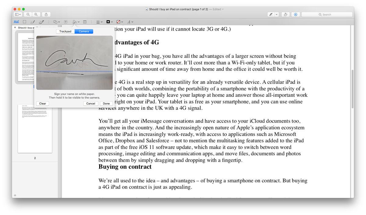 Cómo crear una firma digital en Mac: Crear firma