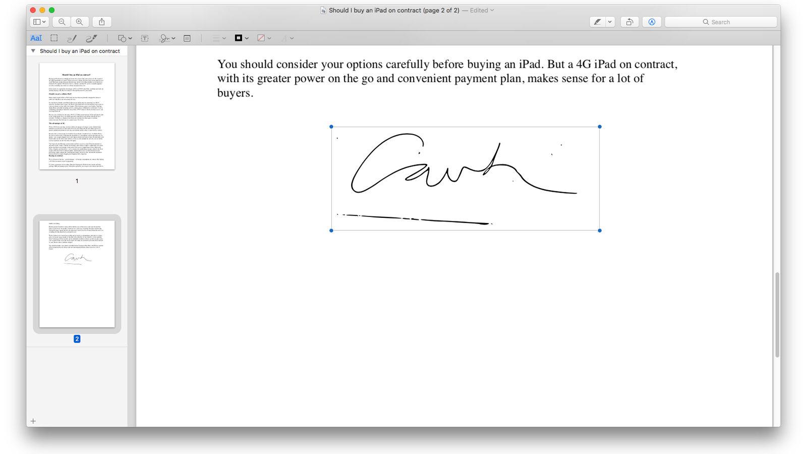Cómo hacer una firma digital en Mac