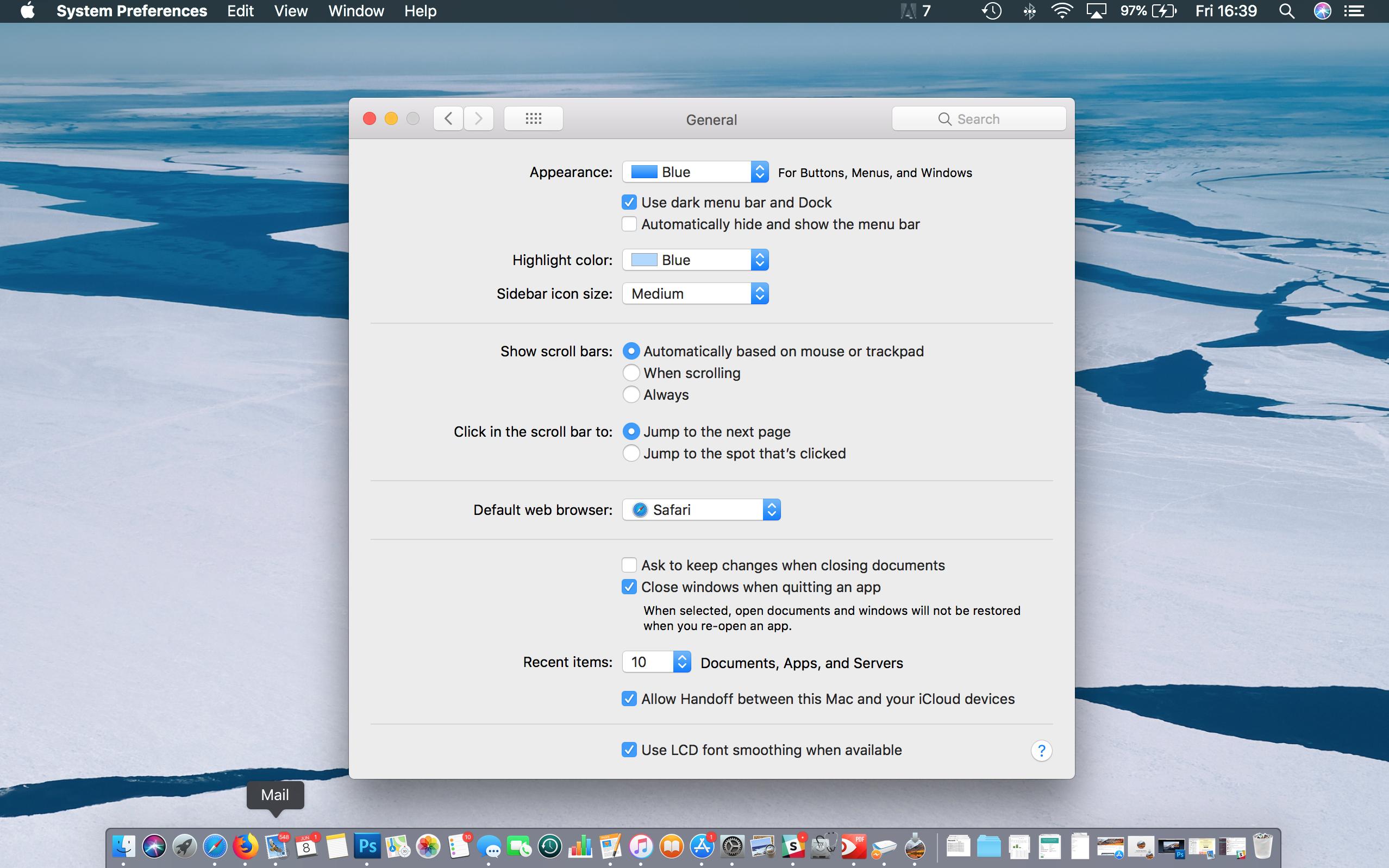 Cómo usar el modo oscuro en Mac: High Sierra