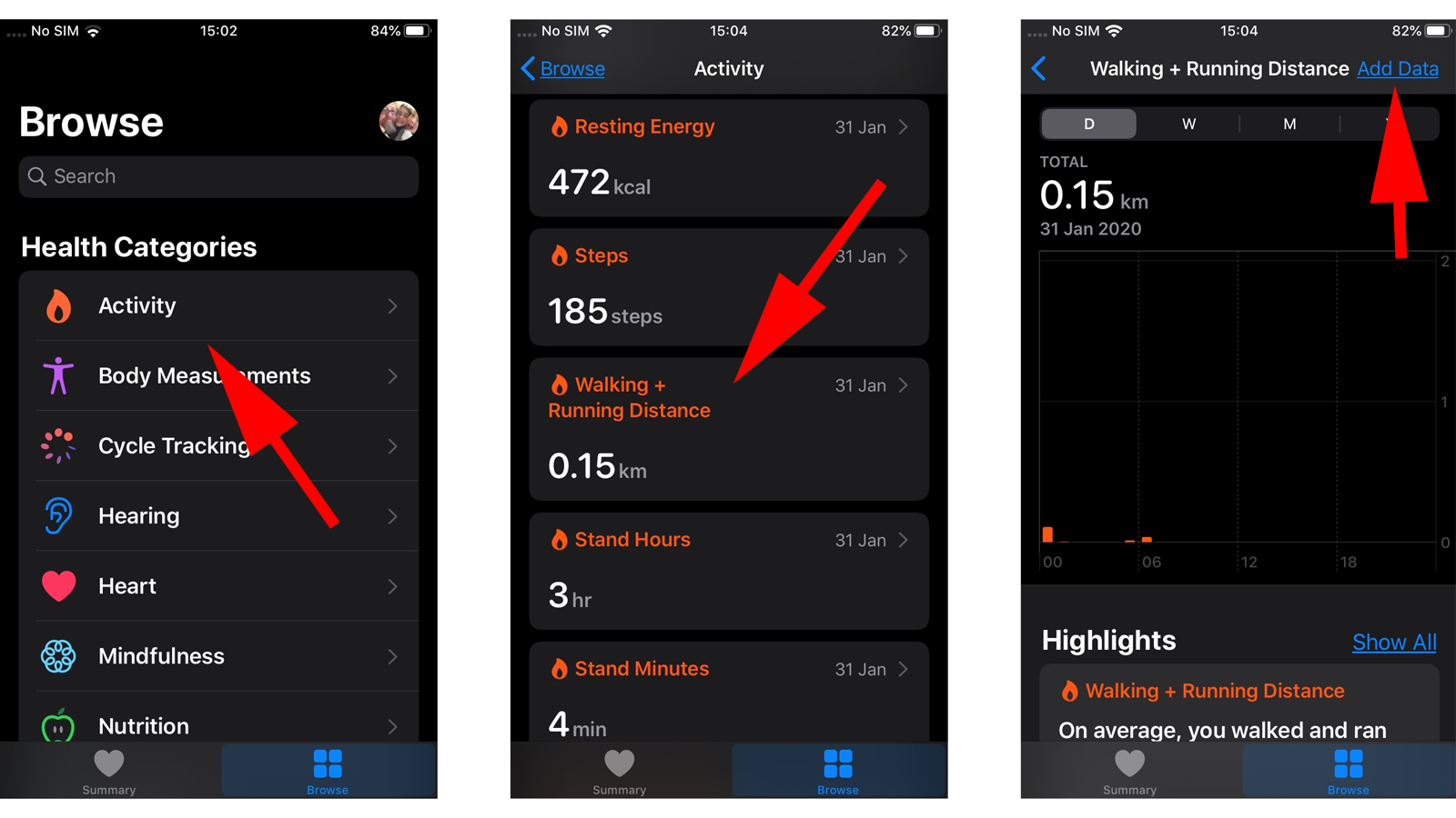 Cómo usar Apple Health: ingresar datos de ejercicio manualmente