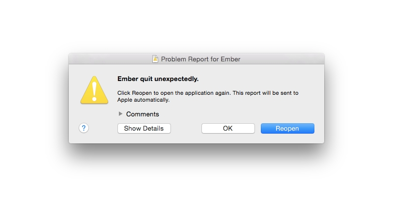 Cómo reparar una Mac congelada: App Crash - Informe de problemas