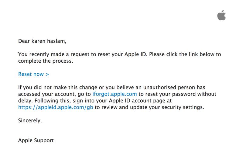 Cómo restablecer la contraseña de ID de Apple olvidada: correo electrónico de restablecimiento de contraseña