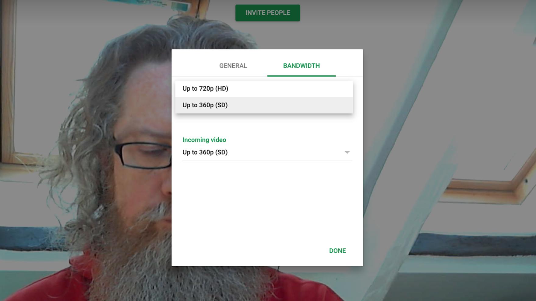 Cómo mejorar la calidad del video en Mac: Configuración de video en Google Hangouts