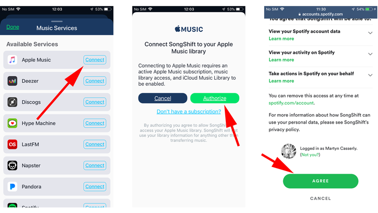 Cómo mover listas de reproducción de Apple Music a Spotify: SongShift