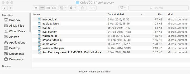Cómo recuperar documentos perdidos en Word para Mac: ¿Dónde se guarda mi documento de Word de recuperación automática?
