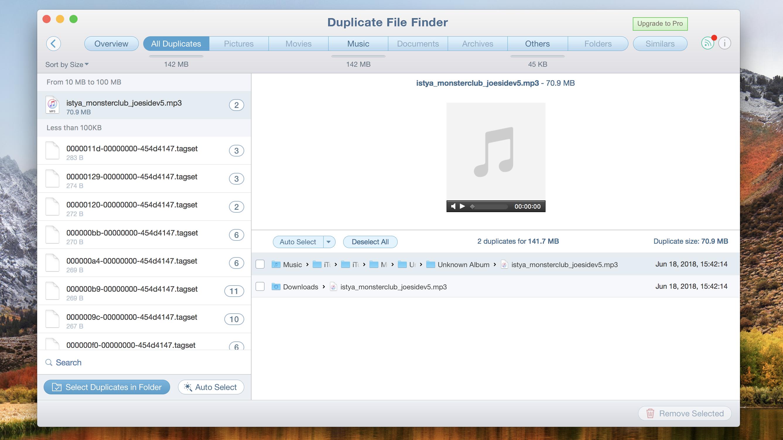 Cómo encontrar y eliminar archivos duplicados en Mac: Buscador de archivos duplicados