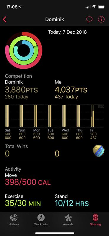 Cómo configurar (y ganar) concursos de Apple Watch: puntuaciones