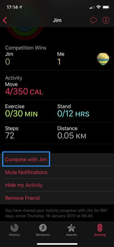 Cómo configurar (y ganar) concursos de Apple Watch: Emite un desafío