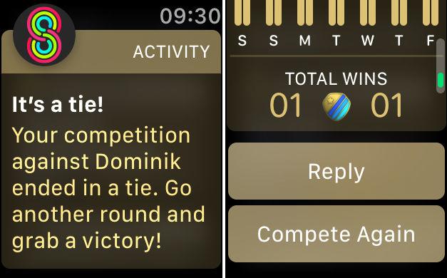 Cómo ganar concursos de Apple Watch: ¿y si es un empate?