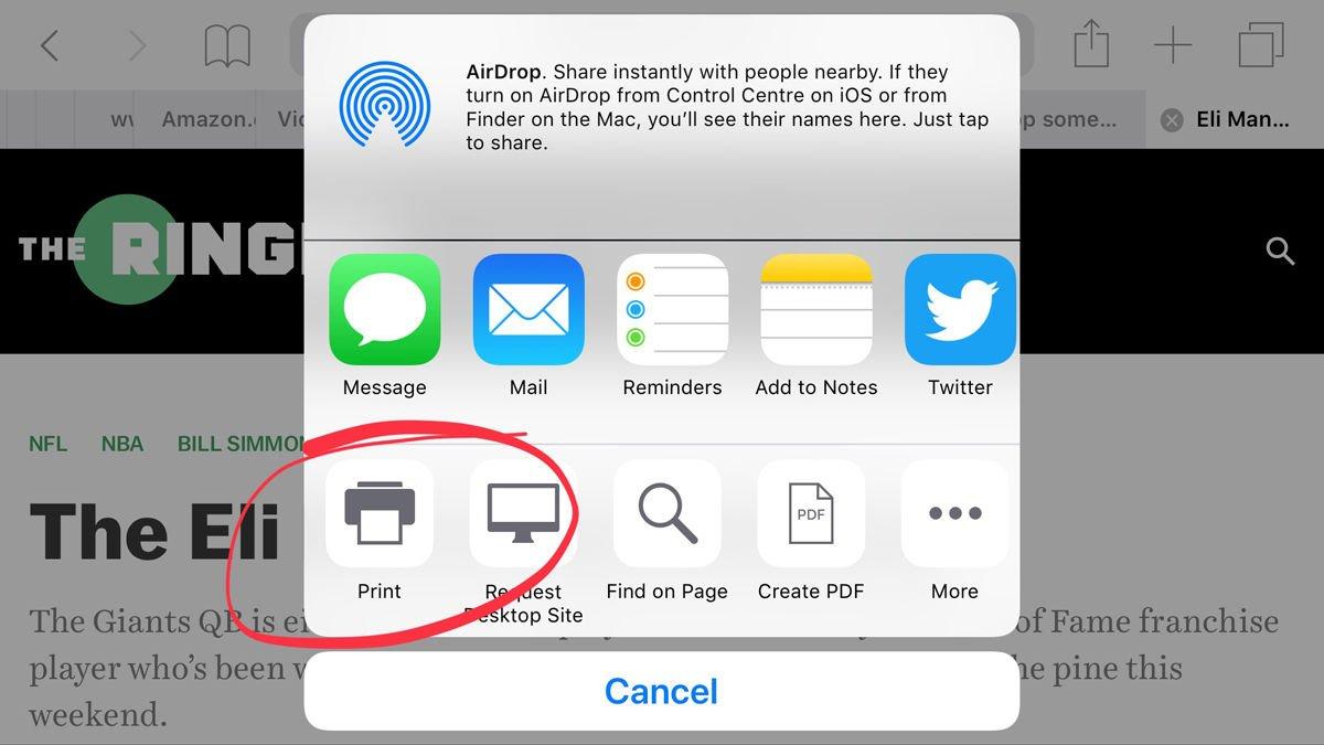 Cómo imprimir de forma inalámbrica desde iPad y iPhone: Impresión de un correo electrónico de forma inalámbrica con AirPrint en iOS