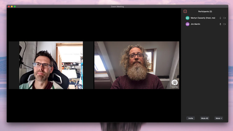 Cómo usar el iPhone como una cámara web Mac: usando Zoom