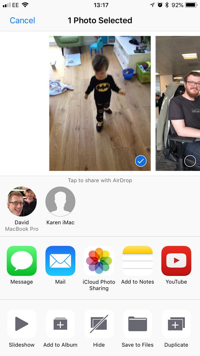 Cómo convertir Live Photos en GIF: compartir