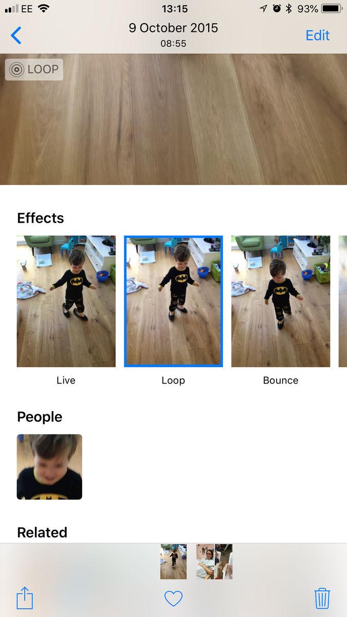Cómo convertir Live Photos en GIF: efectos