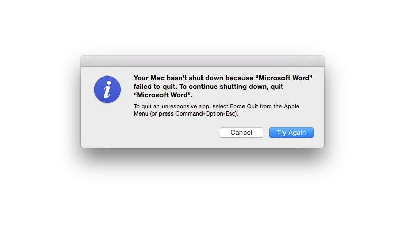 La aplicación no pudo cerrarse al cerrarse