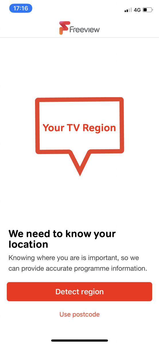 Cómo ver TV gratis en iPhone: Seleccione región