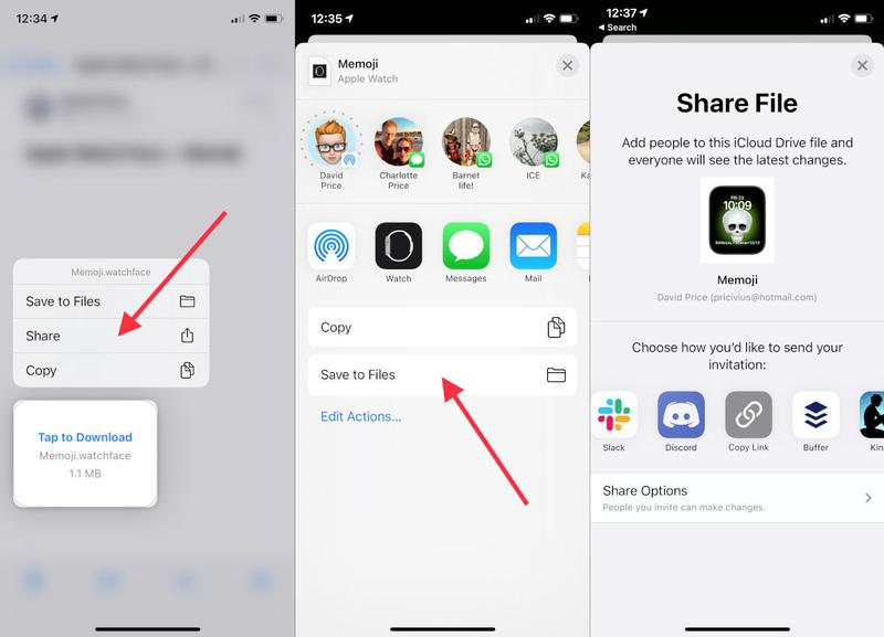 Cómo compartir caras de Apple Watch en watchOS 7: archivos