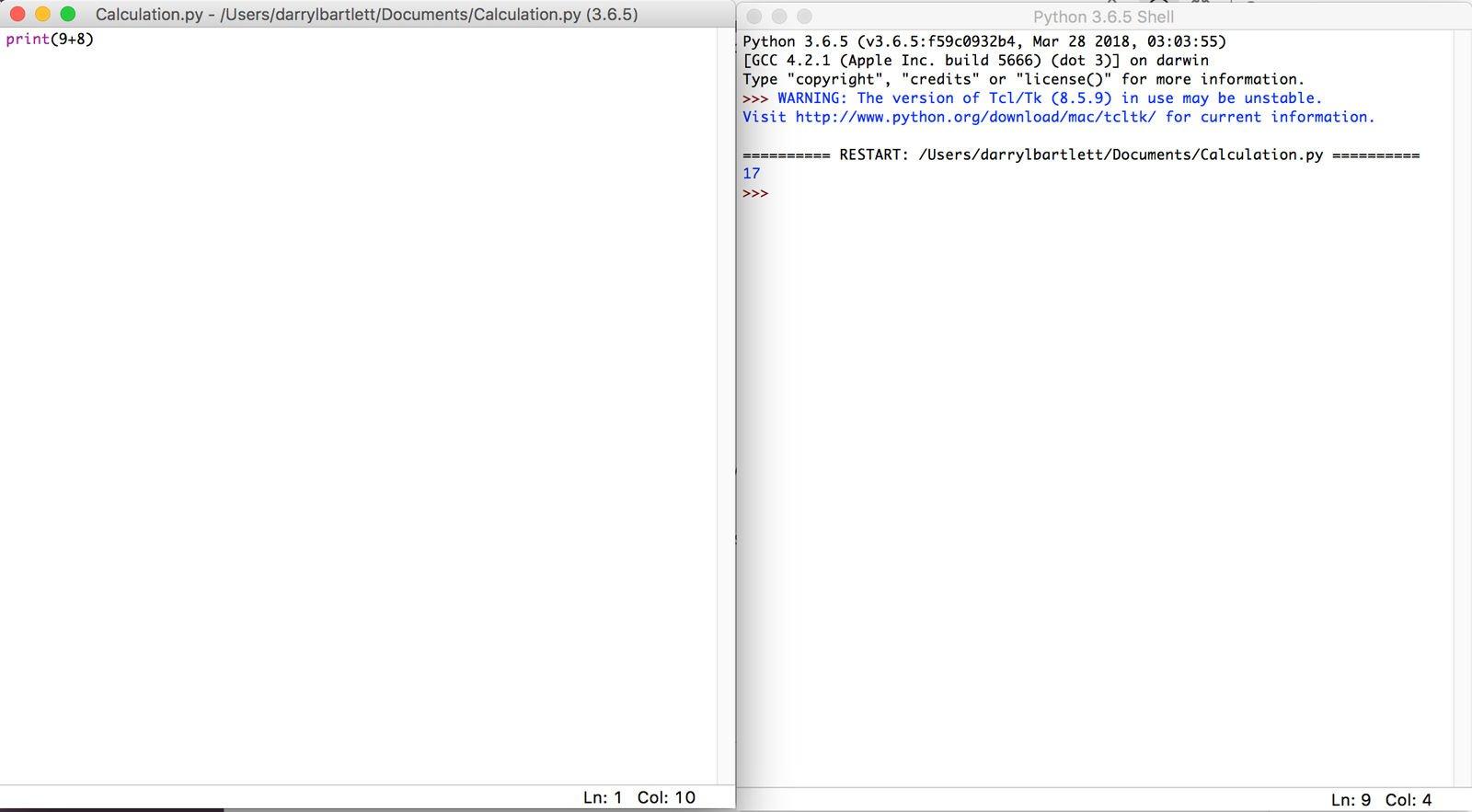 Cómo usar la codificación Python en Mac: cálculo