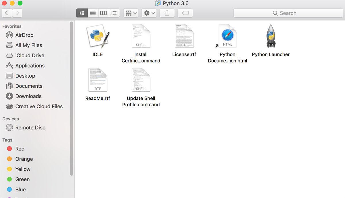 Cómo usar la codificación Python en Mac: Aplicaciones