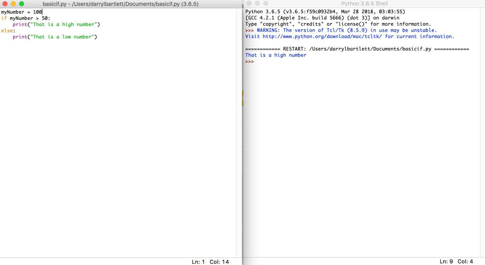 Cómo usar la codificación Python en Mac: Básico si