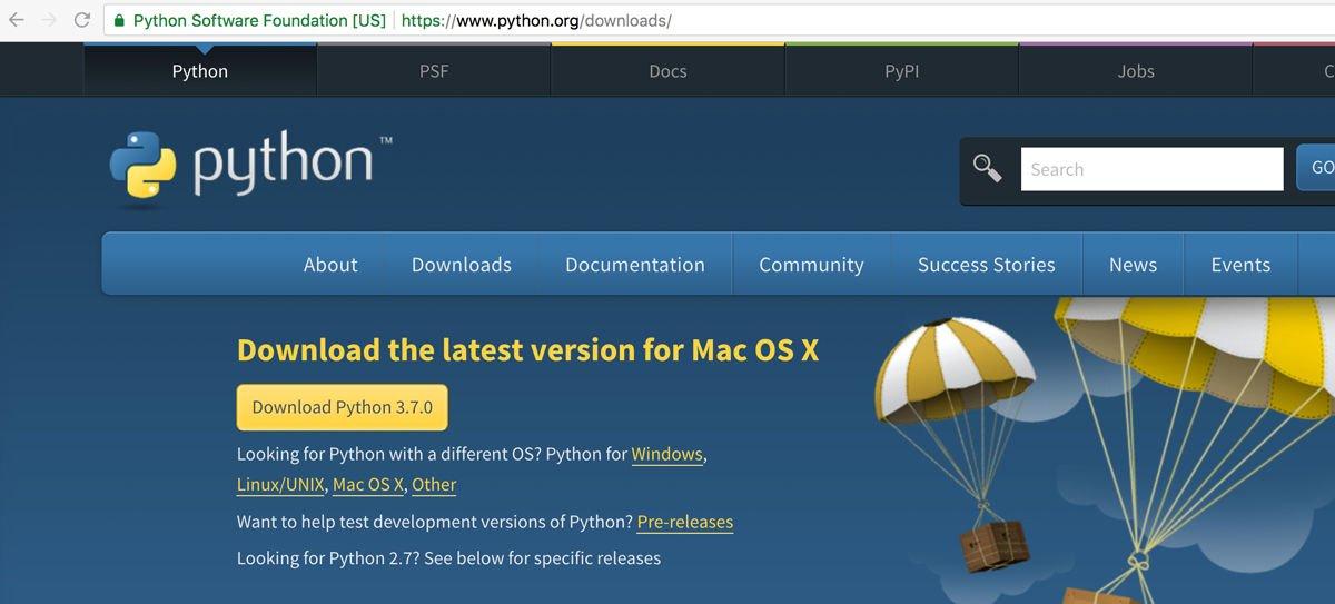 Cómo usar la codificación Python en Mac: Descargar Python