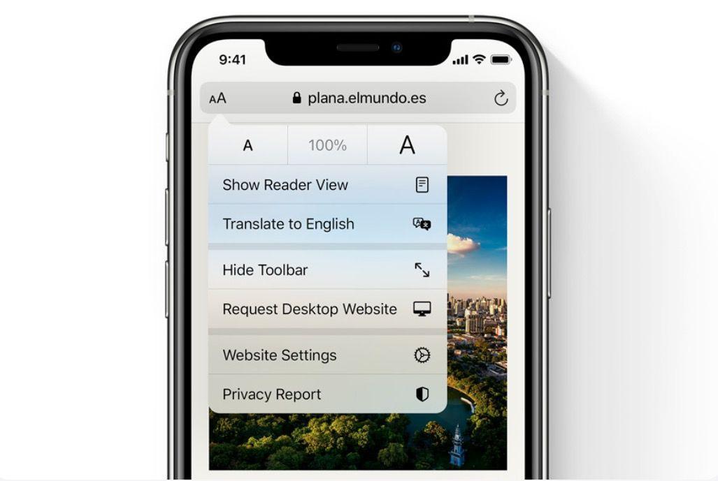 Traducir páginas web en iPhone