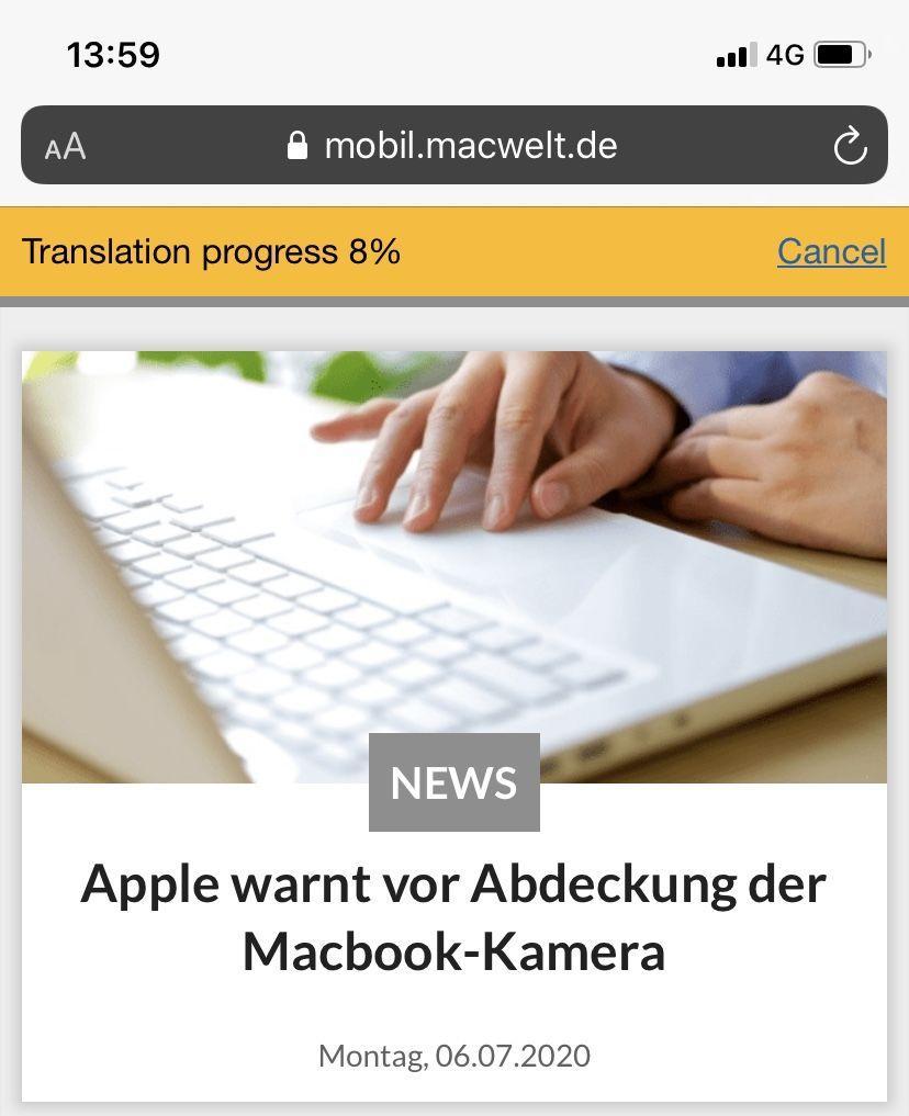 Aplicación de traductor iOS