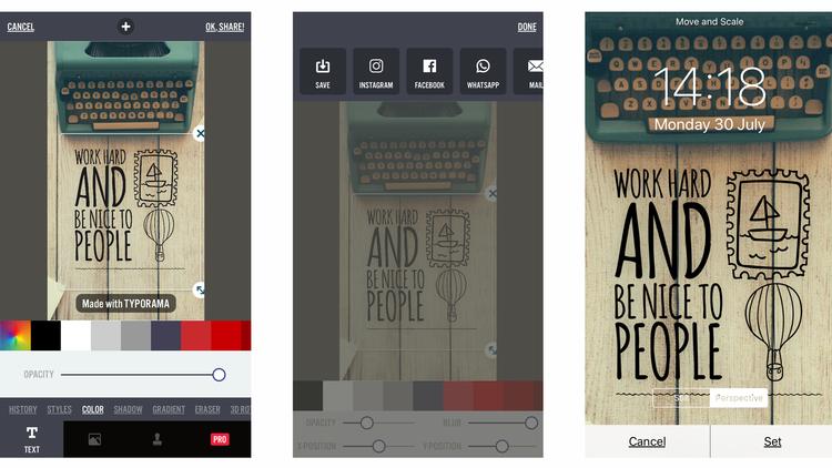 Cómo hacer fondos de pantalla para iPhone y iPad: Typorama 2