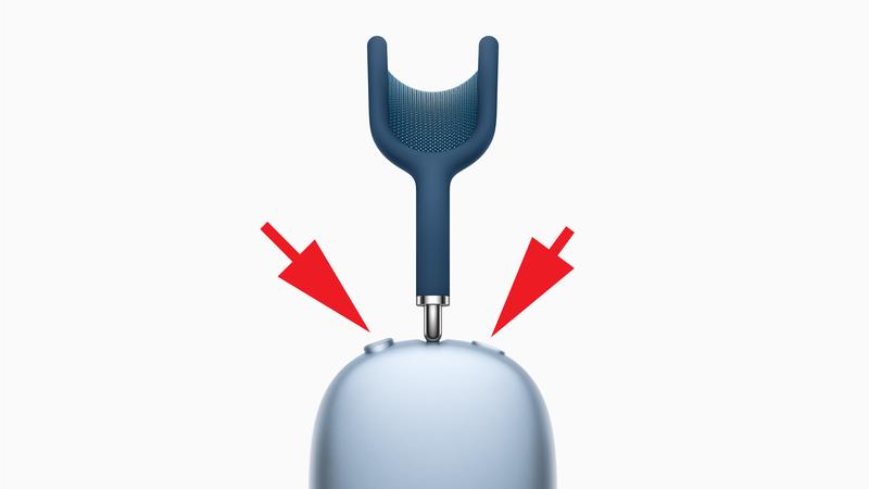 Cómo restablecer los AirPods Max a la configuración de fábrica: botones