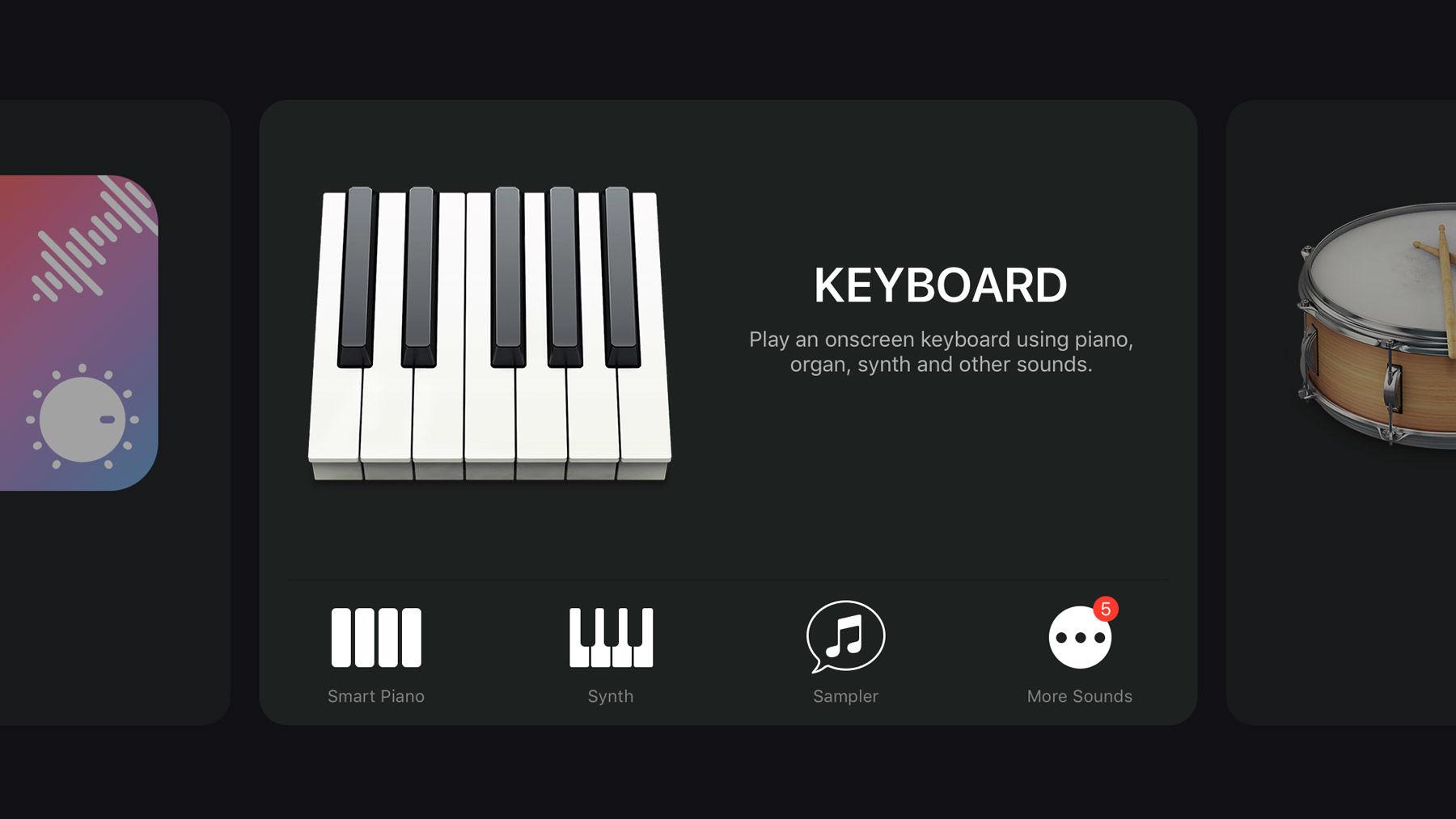 Cómo usar GarageBand en iPhone y iPad: teclados