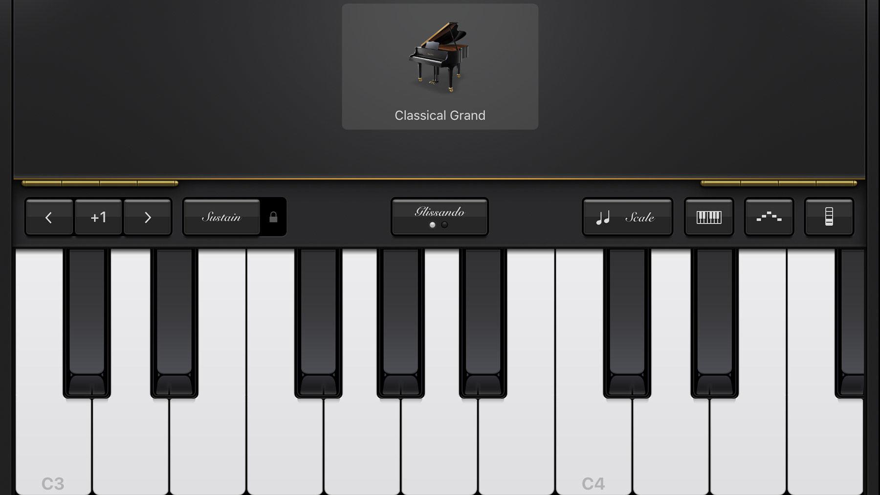 Cómo usar GarageBand en iPhone y iPad: piano de cola clásico