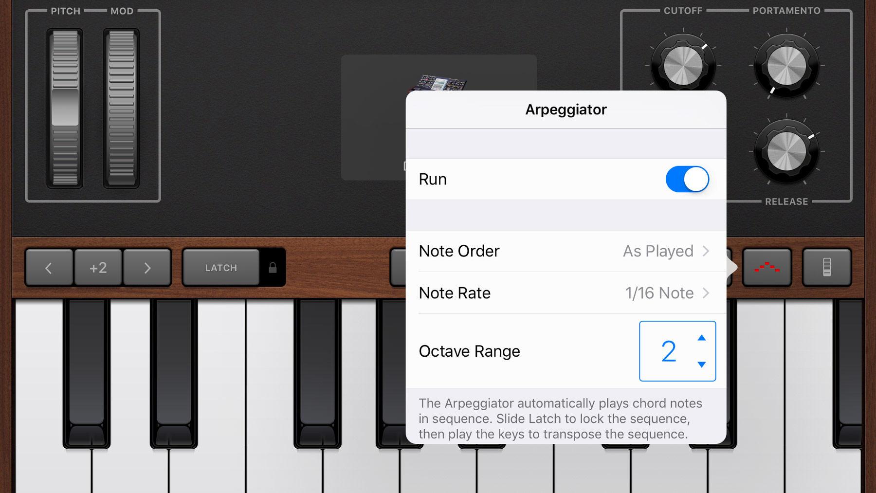 Cómo usar GarageBand en iPhone y iPad: Arpegiador