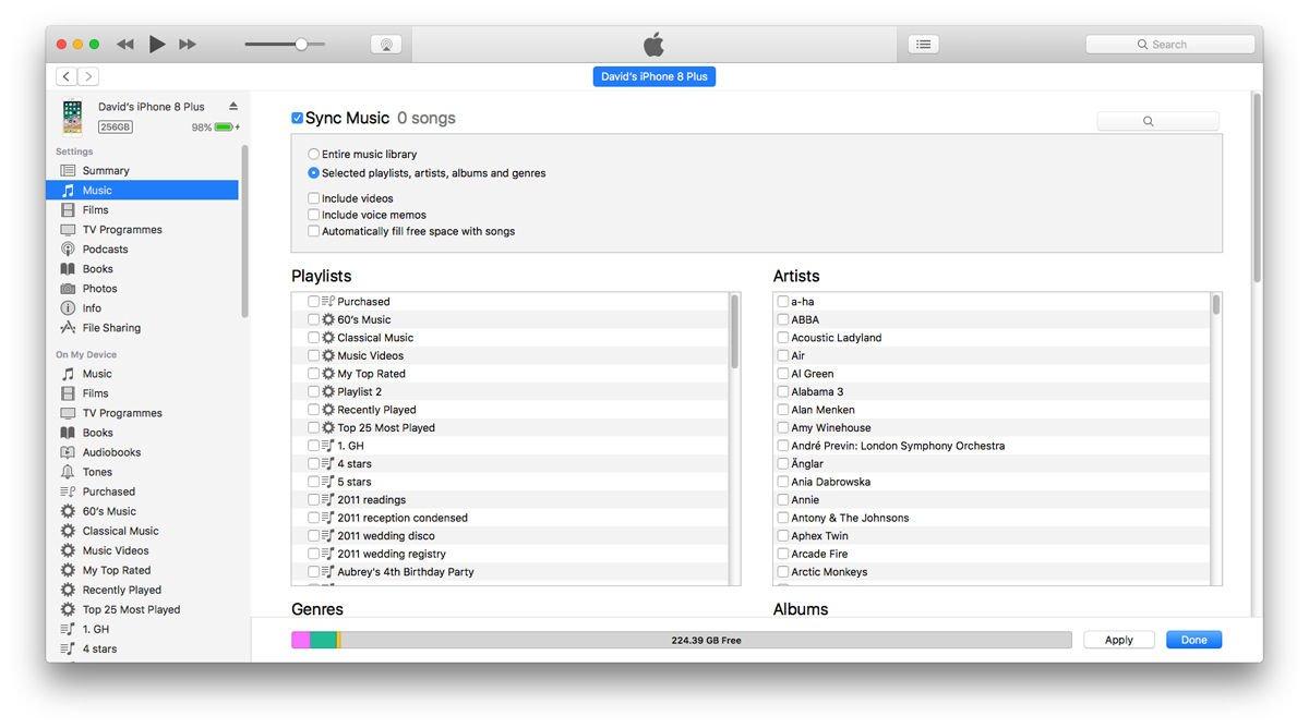 Cómo eliminar música en un iPhone: iTunes
