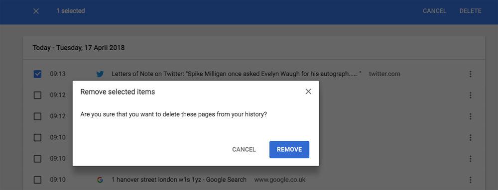 Cómo eliminar el historial de navegación web en Mac: Chrome